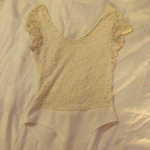 Off white lace bodysuit